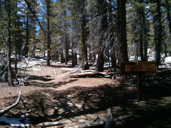 Little Round Valley campsites.