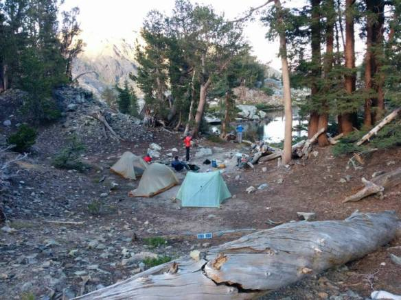 View of the campsite