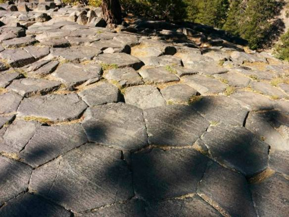 Top of the postpile at the trailhead