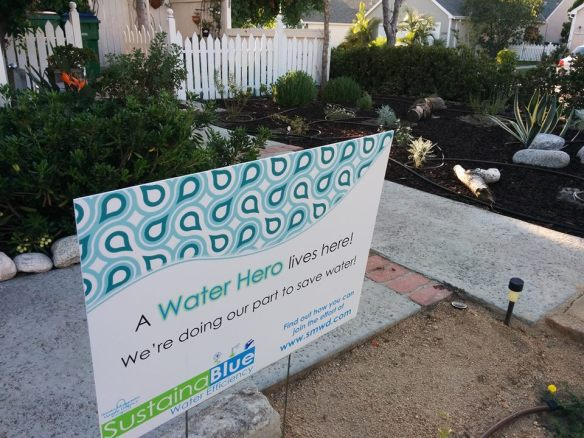 water hero sign