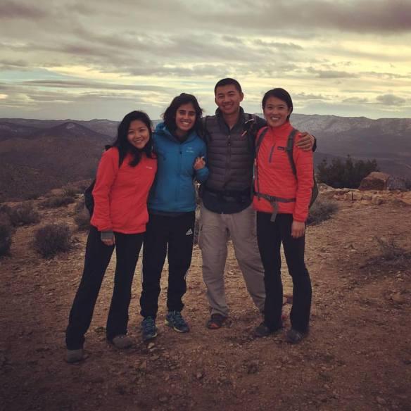 Group photo on top of Ryan Mountain