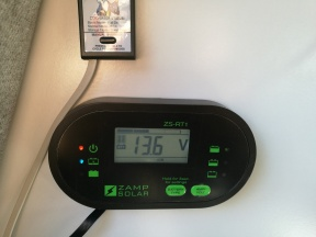 Power panel: Zamp ZS-RT1 Remote Monitor and Progressive Dynamics Charge Wizard Monitor